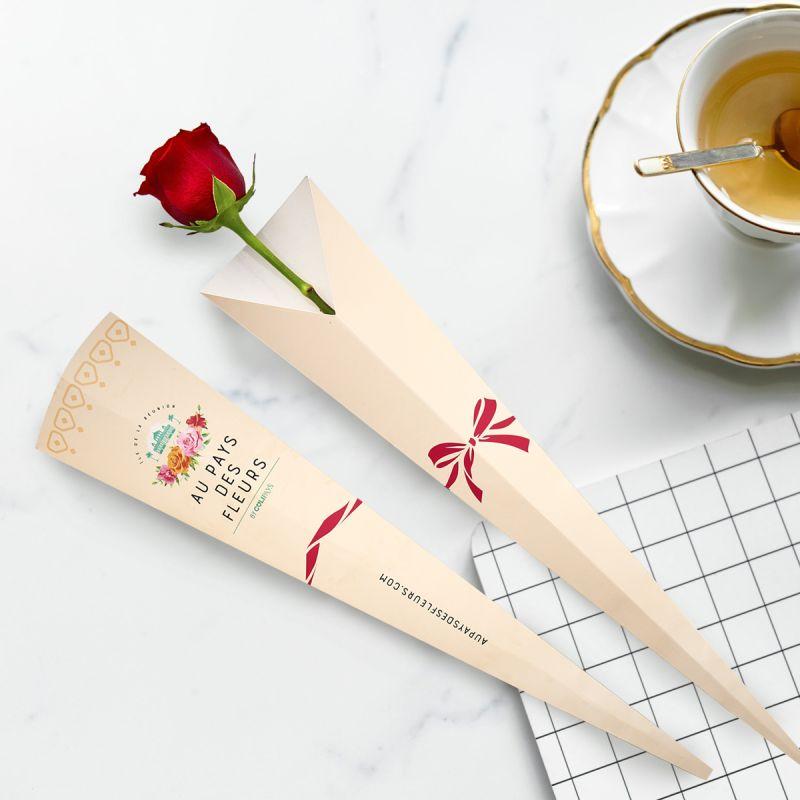 Cornet une rose