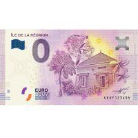 Billet EURO de La Réunion certifié d'une valeur de 0 euros dans sa pochette