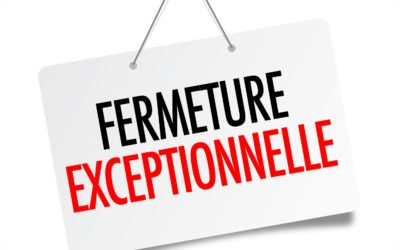 Fermeture exceptionnelle le vendredi 19 avril à 12h30